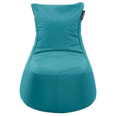 Lebel loungestoel - blauw - 100x80x80 cm - Leen Bakker