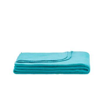 Fleeceplaid Basic - zeegroen - 125x150 cm - Leen Bakker