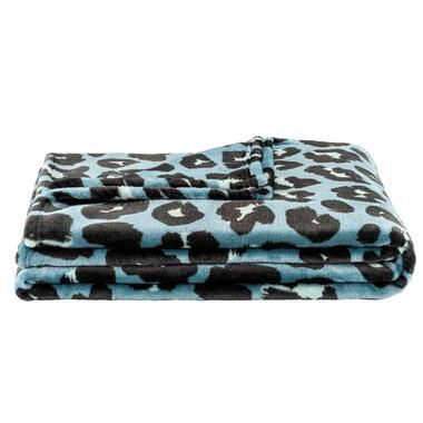 Plaid Bowie Jaguar - groen - 150x200 cm - Leen Bakker