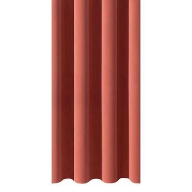 Gordijnstof Rome - roze/rood - Leen Bakker