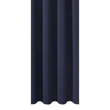 Gordijnstof Aiden - blauw - Leen Bakker