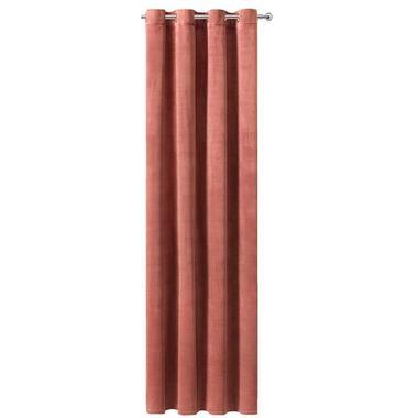 Gordijn Ruby - french velvet roze - 250x140 cm (1 stuk) - Leen Bakker