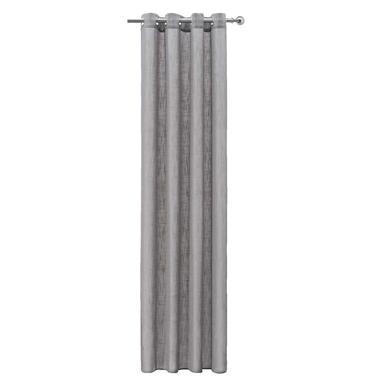Gordijn Miami - grijs - 250x140 cm (1 stuk) - Leen Bakker