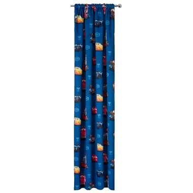 Gordijn Cars - blauw - 250x135 cm (1 stuk) - Leen Bakker