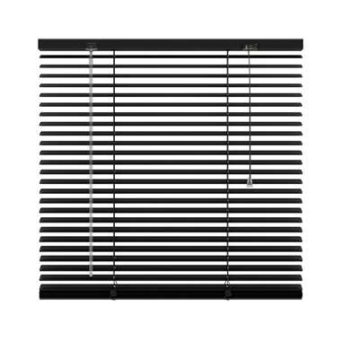 Jaloezie aluminium 25 mm - zwart - 100x250 cm - Leen Bakker