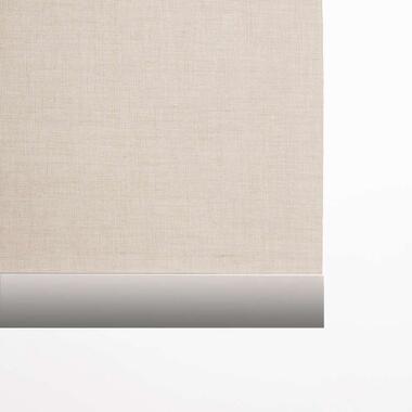 Decoratieve onderlat rolgordijn - aluminium - 150 cm - Leen Bakker