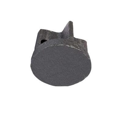 Gordijnroede knop Endcap 28 mm - gewalst staal (2 stuks) - Leen Bakker