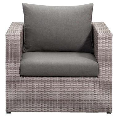 Le Sud fauteuil Ancona - lichtgrijs - 84x84x66 cm - Leen Bakker