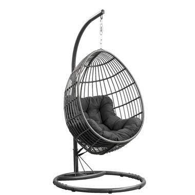 Hangstoel Brava met frame - grijs - 191x96x96 cm - Leen Bakker
