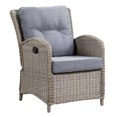 Le Sud loungestoel Verona verstelbaar - grijs - Leen Bakker