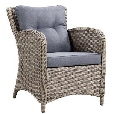 Le Sud lounge stoel Verona - grijs - Leen Bakker
