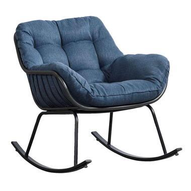 Le Sud schommelstoel Orange - antraciet/blauw - Leen Bakker