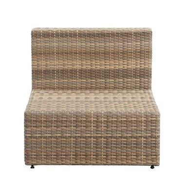 Le Sud loungestoel middenelement Dordogne - taupe - 84x72x66 cm - Leen Bakker