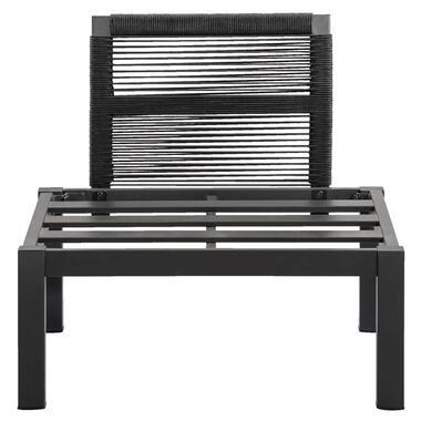 Le Sud loungestoel middenelement Ardeche - grijs - 78x72x66 cm - Leen Bakker