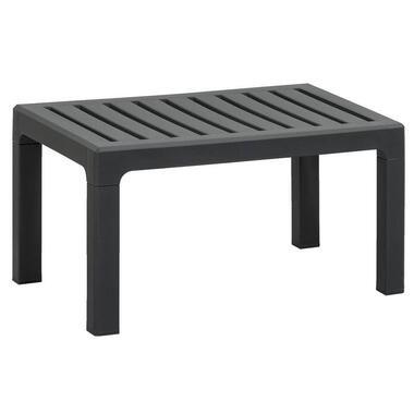 Loungetafel Nevada - antraciet - 69,5x48x37 cm - Leen Bakker