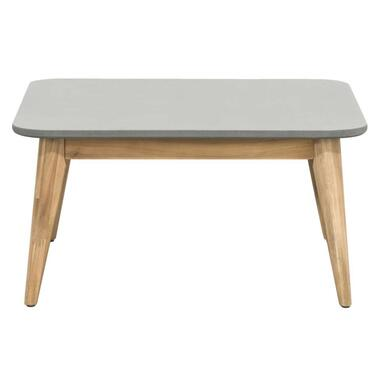 Le Sud tafel Castilla - bruin/grijs - 80x80x40 cm - Leen Bakker