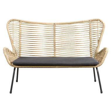 Le Sud 2-zits loungebank Monte Carlo - naturel - 77x140x90 cm - Leen Bakker