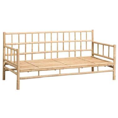 Bamboe loungebank Tarifa - naturel - 180x75x82 cm - Leen Bakker