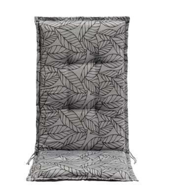 Le Sud terrasstoelkussen Leaf - grijs/antraciet - 123x50x5 cm - Leen Bakker