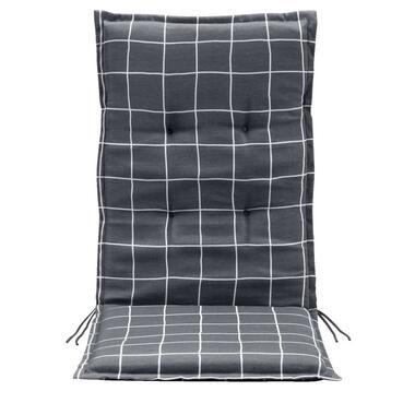 Terrasstoelkussen Promo - grijs - 123x50x5 cm - Leen Bakker