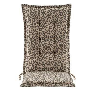 Terrasstoelkussen Leopard - taupe - 123x50x8 cm - Leen Bakker