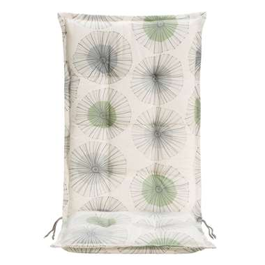 Terrasstoelkussen Dandy - groen - 123x50x8 cm - Leen Bakker