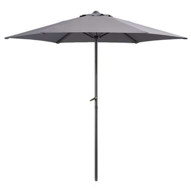 Le Sud parasol Blanca - antraciet - 250 cm - Leen Bakker