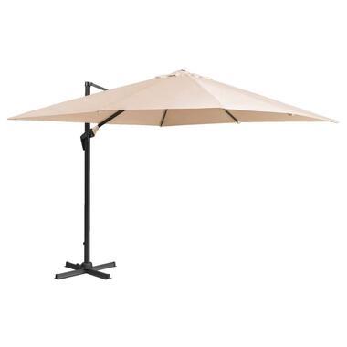 Le Sud freepole parasol Nice - taupe - 300x300 cm - Leen Bakker