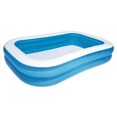 Bestway familiezwembad - blauw/wit - 262x175x51 cm - Leen Bakker