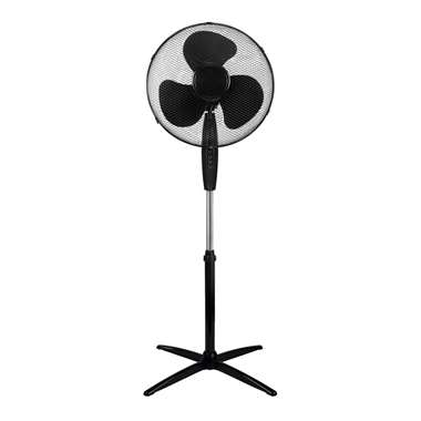 Ventilator staand - zwart - 40 cm - Leen Bakker
