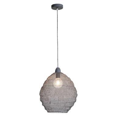 Hanglamp Niels - grijs - 38 cm - Leen Bakker