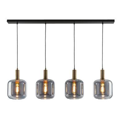 Hanglamp Toulouse 4-lichts - zwart - 150x120x10 cm - Leen Bakker