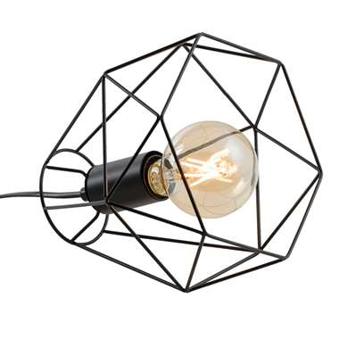 Tafellamp Marnix - zwart - 19x22x22 cm - Leen Bakker