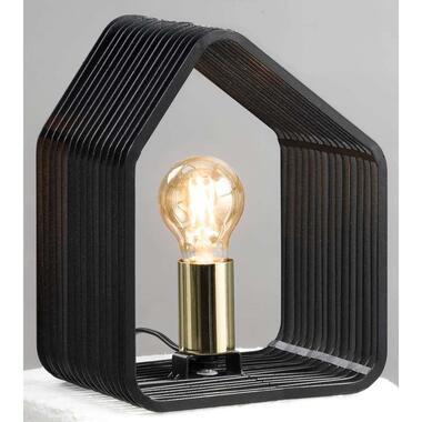 Tafellamp Auckland - zwart - 20x14x25 cm - Leen Bakker