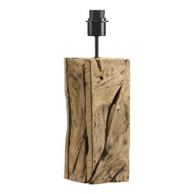 Voet tafellamp Medan - teakhout - 12x12x43 cm - Leen Bakker