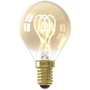 Calex LED kogellamp filament - goudkleur - 4W - E14 - Leen Bakker
