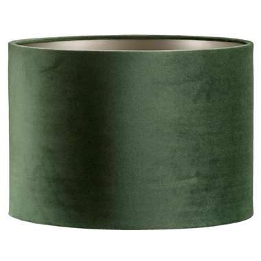 Kap Cilinder - groen - velours - 30x21 cm - Leen Bakker