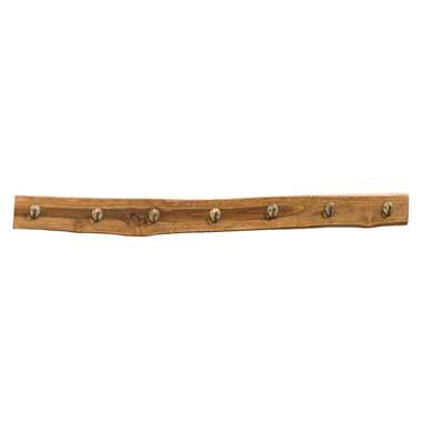 Wandkapstok Jafar - 7 haken - naturel - 10x100x2 cm - Leen Bakker
