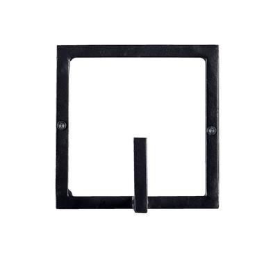Wandhaak Aken 1 haaks - zwart - 12x12x8 cm - Leen Bakker