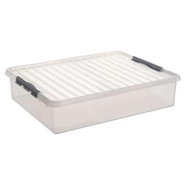 Q-line box 60 liter - transparant - 80x50x18 cm - Leen Bakker
