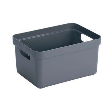 Sigma home box 13 liter - donkerblauw - 35,2x25,3x18,3 cm - Leen Bakker