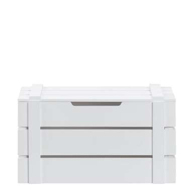 Kist Raaf - wit - 19x34x17 cm - Leen Bakker