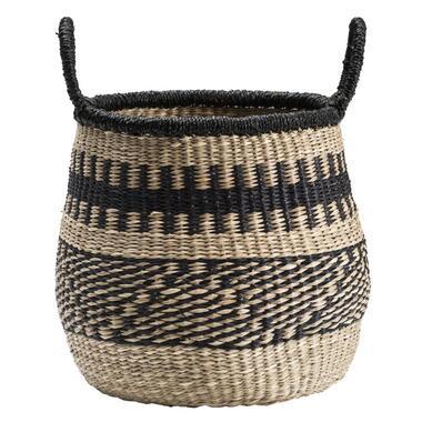Mand senne is een topper in onze opbergcollectie. deze moderne opbergmand is gemaakt van zeegras, gevlochten ...