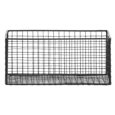 Mand Brisbane - zwart - 24,5x15xh11 cm - Leen Bakker