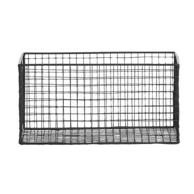 Mand Brisbane - zwart - 28,5x18,5x14,5 cm - Leen Bakker