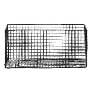 Mand Brisbane - zwart - 34,5x23x16 cm - Leen Bakker