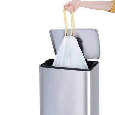 EKO afvalzak met trekband - wit - 40-60L - Leen Bakker