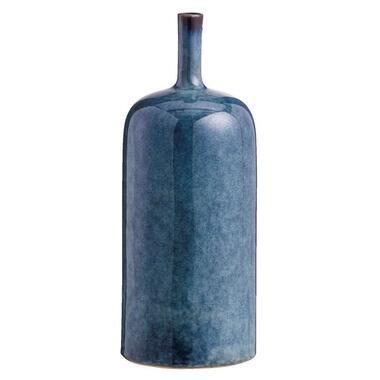 Vaas Tiemen - blauw - 31x12,4 cm - Leen Bakker