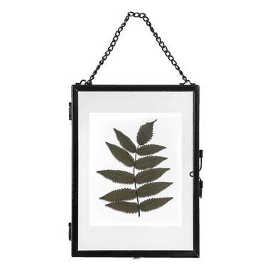 Fotolijst aan ketting Hanoi - zwart - 13x18 cm - Leen Bakker