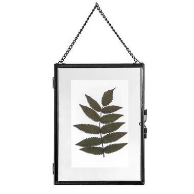 Fotolijst aan ketting Hanoi - zwart - 15x20 cm - Leen Bakker